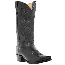 Dan Post Mens Western Boots Bexar Cowboy Black Saddle DP2295