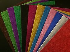 5 X WamiQ A4 GLITTER SELF ADHESIVE EVA ART& CRAFT FOAM SHEETS 12 COLOURS