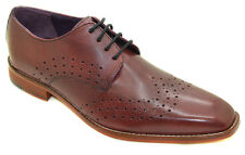 Gucinari AMP-023 Burgundy Derby Lace-Up Men's Shoes
