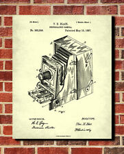 Vintage Camera Patent Print Photography Wall Art Photographic Equipment Poster