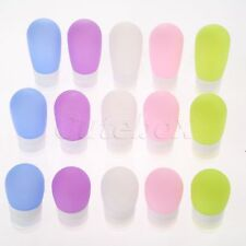1pc 3 Size Silicone Travel Shower Packing Bottle Lotion Shampoo Press Container