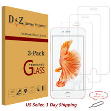 3Pcs For iPhone 6/7 PlusPremium Real Tempered Glass Screen Protector Bubble Free