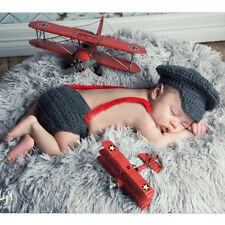 Newborn Baby Crochet Knit Costume Photo Photography Prop Outfits Gift Baby Decor