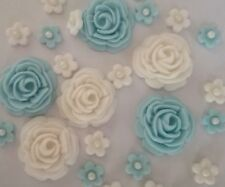 26 ROSES AND FLOWERS Various colours Edible sugar cake topper Wedding cupcakes