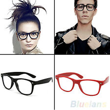 The Best  Retro Unisex Mens Womens Clear Lens Wrap Nerd Geek Glasses Eyewear