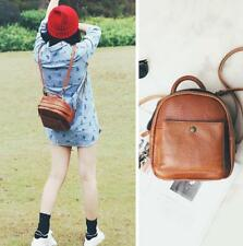 Hot Womens Small Brown Genuine Leather Backpack Rucksack Daypack Purse Cute Bag