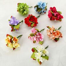 Lovely 6/72Pcs Artificial Silk Fake Flower Wedding Party Home Floral Decor Craft