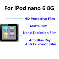 3pcs For iPod nano 6 8G  Matte/Nano Explosion/Anti Blue Ray Screen Protector
