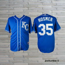 35# Kansas City Royals Eric Hosmer KC Men Royals Blue Baseball Jersey
