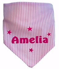 Personalised Baby Girl Boy Dribble Bib Bandana Style Printed With Any Name GIFT
