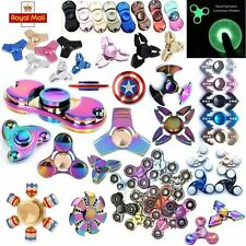 Fidget Hand Spinner Steel Tri Bearing ADHD EDC Finger Focus Stress Relief Toy
