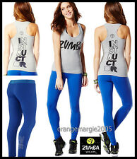 ZUMBA INSTRUCTOR 2Pc.SET!! RacerBack Top Tank Classic (Rock with Me) + Leggings