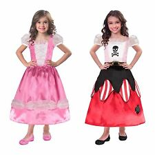 2in1 Reversible Girls Princess & Pirate Halloween Party Fancy Dress Costume