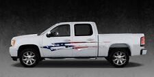 2 Car Truck American Flag Side Decals Graphics Stripes Vinyl #B490 Ameri Flag
