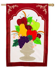 Evergreen Welcome Urn Estate Sized Applique Flag, 36 x 54 inches