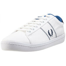 Fred Perry B2 Tennis Mens White Canvas Casual Trainers Lace-up Genuine Shoes