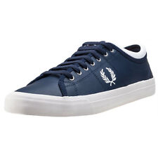 Fred Perry Kendrick Reversed Tipped Cuff Mens Trainers Carbon Blue New Shoes