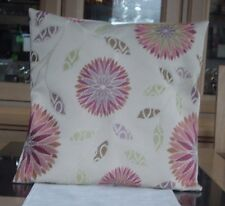 CREAM WITH DIFFERENT SHADES OF PINK FLORAL DESIGN CUSHION COVER