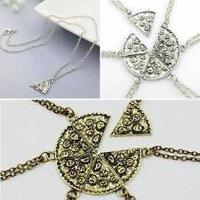 1x Alloy Slice~Pizza Charm Pendant Chain Necklace The Chain Of Friendship