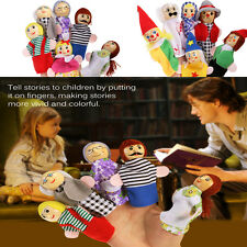 6pcs Baby Educational Story Props Toys Family Finger Puppets Dolls Toys Set Gift