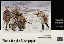 Photo For the Newspaper   Russian infantry 1944                  1/35 Master box