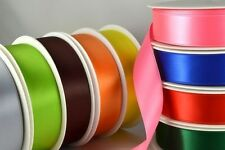 7mm High Quality Double Sided Satin Ribbon x 25 Metre Rolls!!