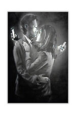 Mobile Phone Lovers By Banksy Graffiti Art Poster Prints Wall Pictures