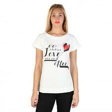 Love Moschino Clothing Women T-shirts White 74761 Outlet BDX
