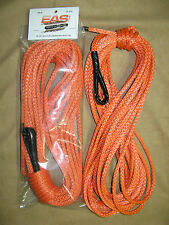 65' Synthetic Winch line - Plasma Line Amsteel Blue® - Orange/Red/Blue 65' 1/4""
