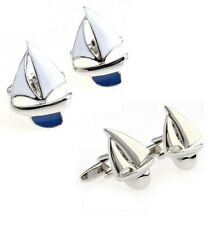 Boating Yachting Sailboat Sail Boat Yacht Cufflinks