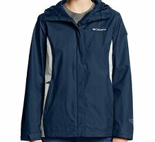 Columbia Womens Arcadia II Omni-Tech Waterproof Hooded Rain Jacket MSRP $90