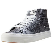 Vans Sk8 Hi Slim Disco Python Womens Trainers Black Silver New Shoes