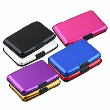 HOT Waterproof Business ID Credit Card Wallet Holder Aluminum Metal Case Box VE