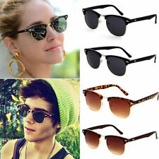 Hot Clubmaster Sunglasses Unisex Womens Mens Aviator Shades Retro Vintage UV400