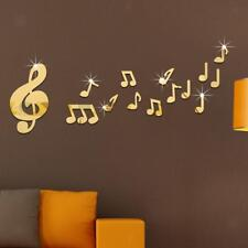 Musical Note Wall Art Mirror Stickers Kids Bedroom Home DIY Decoration