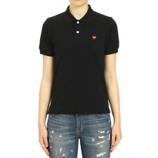 Comme des Garcons Play Women's Small Red Heart Polo Shirt P1T203 BLK,NVY,WHT