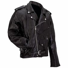 Man's Motorcycle Jacket  Diamond Plate™ Rock Design Genuine Buffalo Leather
