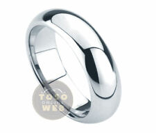 Ladie's 5.5mm Classic Dome Pipe-Cut Edge High Polish Tungsten Ring TS0130A