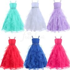 Flower Girl Wedding Bridesmaid Dress Kids Birthday Party Pageant Formal Dresses