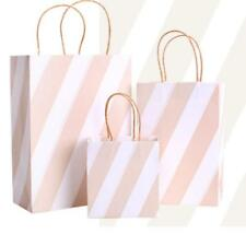 5pc Striped Party Bags Quality Paper Carrier Bags Gift Bags Recyclable Loot Bags