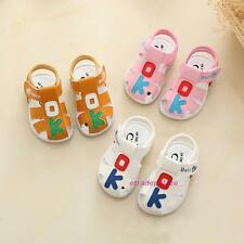 New Summer 2017 Baby Boys&Girls Toddlers Leather Sandals Shoes Soft Soled 0-1-2T