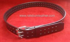Genuine Leather Belt 2 prong restraint HOBBLE BELT bdsm Aussie Seller & Made