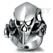 Men's Stainless Steel Skull Biker Gothic Ring Casting Rock Personality Size 8-13