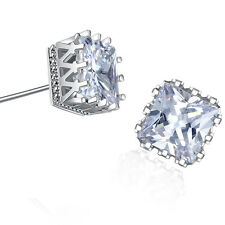 18k White Gold GP AAA CZ Zircon Crystal Engagement Earrings Lady Earrings Studs
