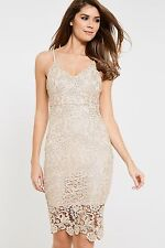AX Paris Strappy Lace Bodycon Dress