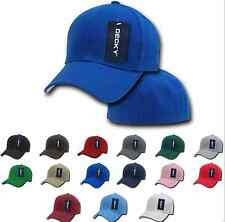 Plain Fitted Pre Curved Bill 6 Panel Baseball Hats Hat Caps Cap Many Sizes Color