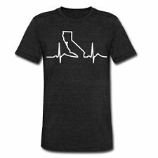California Heart Beat Love Apparel Shirts Unisex Tri-Blend T-Shirt by American