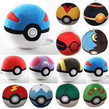 New Pokemon Pikachu Pokeball Master Poke BALL Plush Pendant Xmas Gift Soft Doll
