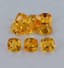 4mm to 8mm Calibrated Size Natural Citrine Cushion Cut AA Color Loose Gemstone