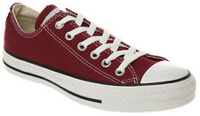 CONVERSE CHUCK TAYLOR ALL STAR OX  M9691  CLASSIC - UNISEX  MAROON TRAINERS